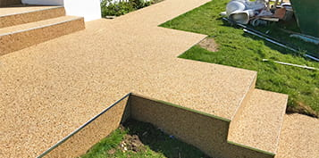non-slip resin bound steps cornwall & devon