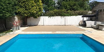 resin bound swimming pool soft under foot